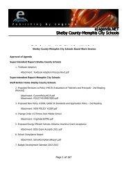 e agenda.NET Shelby County-Memphis City Schools