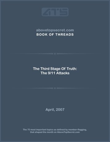 The Third Stage Of Truth: The 9/11 Attacks April ... - Above Top Secret