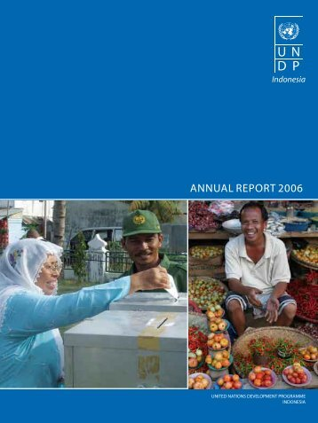 Download the UNDP Indonesia Annual Report 2006 in English