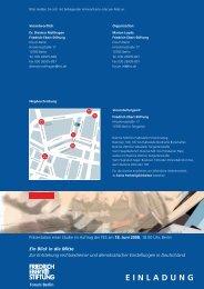 Einladung zur Präsentation der Studie - Friedrich-Ebert-Stiftung