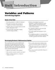 Variables and Patterns