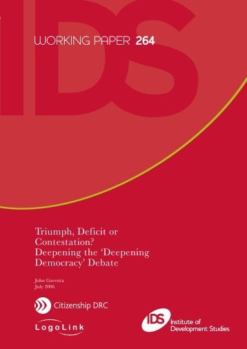 Triumph, Deficit or Contestation? - Research for Development