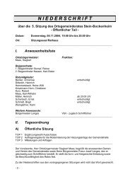 Niederschrift - Stein-Bockenheim