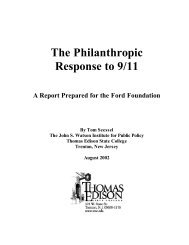 The Philanthropic Response to 9/11 - Ford Foundation