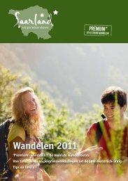 Wandelen 2011 - Tourismus Zentrale Saarland
