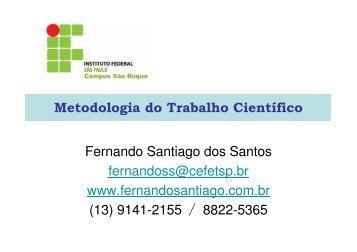Aula 3 - Fernando Santiago dos Santos