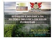 estoques e dinâmica da matéria orgânica em solos ... - Fundagres