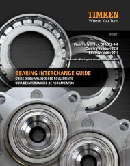 Timken Automotive Bearing Interchange and Cross Reference Guide