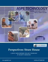 An SI, Inc. White Paper: Perspectives: Straw House - ASPE
