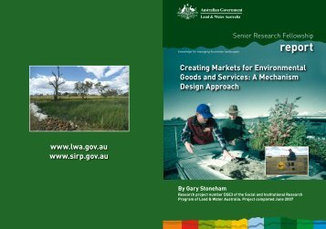 A Mechanism Design Approach report - Land and Water Australia