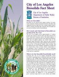 Biosolids Management-Land Application - Bureau of Sanitation