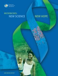 IPM 2009 Annual Report - International Partnership For Microbicides