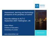 Slides - Association for Learning Technology