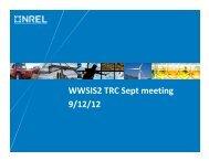 Presentation on Preliminary results - NREL