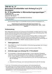TRB 801 Nr. 37 Besondere Druckbehälter nach Anhang II zu § 12 ...
