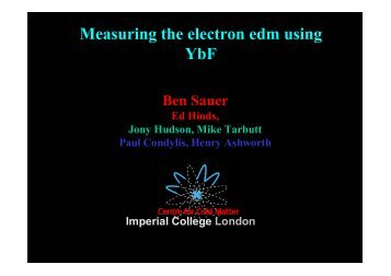 Measurement of the electron edm using YbF molecules