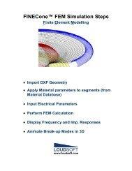 FINECone™ FEM Simulation Steps Finite Element Modelling