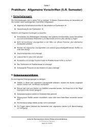 Praktikum: Allgemeine Vorschriften (5./8. Semester)