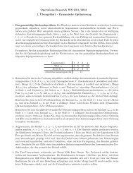 Operations Research WS 2011/2012 1. ¨Ubungsblatt - Dynamische ...