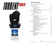 Torrent 90 User Manual (Rev A) - Blizzard Lighting