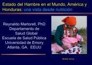 Sr. Reynaldo Martorell - Universidad de Emory - EEUU