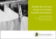 Skydda dig mot svart arbete när du köper hushållsnära tjänster