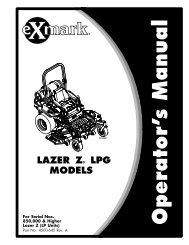 LAZER Z® LPG MODELS - Exmark