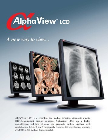 alphaview brochure.indd - Genesis Digital Imaging
