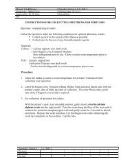 INSTRUCTIONS FOR COLLECTING SPECIMENS FOR PERTUSSIS ...