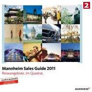 Mannheim Sales Guide 2011 - Tourist Information Mannheim