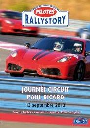 JOURNéE CIRCUIT PAUL RICARD - Rallystory