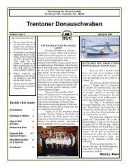 Membership Sponsors - Trenton Donauschwaben Association