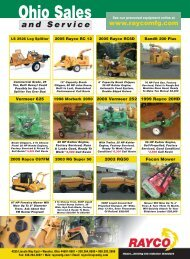 RAYCO Offers Special Financing!  - Tree & Landscape Equipment ...