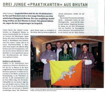 Praktikanten aus Bhutan «Allegra - Hotel Belvédère Scuol
