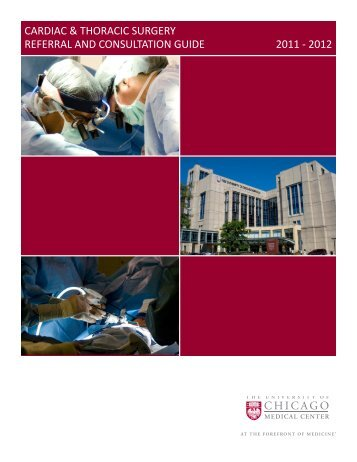Cardiac & Thoracic Surgery Referral & Consultation Guide - The ...