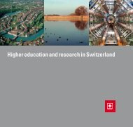 Higher education and research in Switzerland - SCIEX.ro