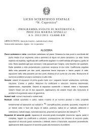 """LICEO SCIENTIFICO STATALE """"N. Copernico"""" - Sogisnc.it"""