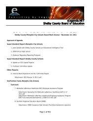 agenda - Shelby County Schools