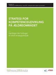 Strategi for kompetenceudvikling på ældreområdet - Personaleweb