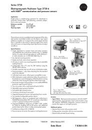Series 3730 Electropneumatic Positioner Type 3730-6 with HART ...