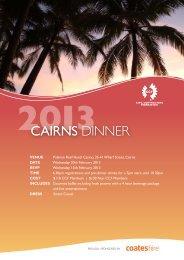 CaiRNS DINNER - Civil Contractors Federation