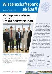 Newsletter Nr. 9 - Wissenschaftspark Gelsenkirchen