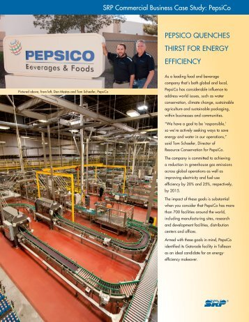 PEPSICO QUENCHES THIRST FOR ENERGY EFFICIENCY