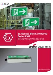 Ex-Escape Sign Luminaires- Series EXIT - Cooper Crouse-Hinds