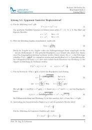 Lösung 5.1: Ljapunow basierter Reglerentwurf