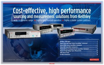 sourcing and measurement solutions from Keithley