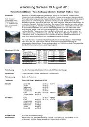 Wanderung Surselva 19.August 2010