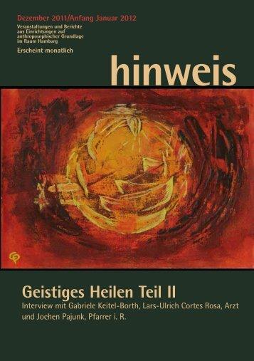 Geistiges Heilen Teil II - Gemeinnützige Treuhandstelle Hamburg e.V.
