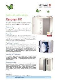 Jednotka pro větrání s rekuperací Renovent HR M - Štorc