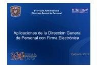 Dirección General de Personal - Dirección General de Servicios ...